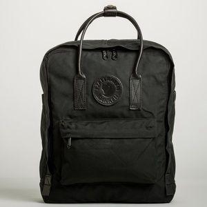 Full black Fjallraven Kanken backpack